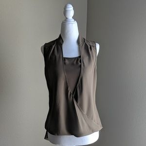 NWOT XOXO brand xs wrap front blouse